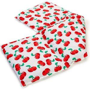Rouge 65x15 cm Coussin aux noyaux utilisable /à chaud Coussin aux noyaux de cerises /à 7 compartiments avec sangle