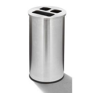 POUBELLE - CORBEILLE Poste de recyclage - inox capacité 60 l - Collecte