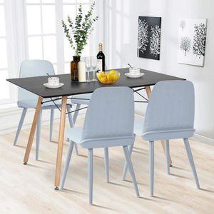 TABLE À MANGER COMPLÈTE Ensemble table à manger de 4 à 6 personnes + 4 cha