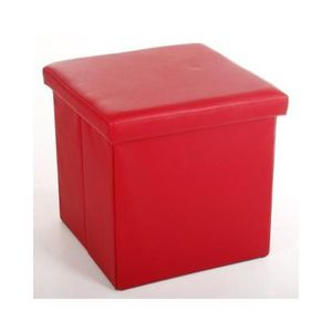 Pouf g ant achat vente pouf g ant pas cher cdiscount for Pouf carre rouge