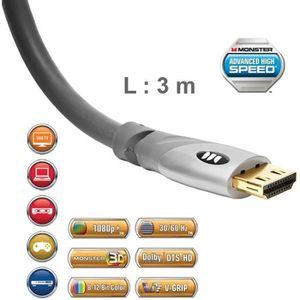 CÂBLE TV - VIDÉO - SON Câble HDMI 2.0 UHD Monster Gold 3 m
