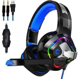 CASQUE AVEC MICROPHONE Casque Gaming Son 7.1 Surround avec Microphone pou