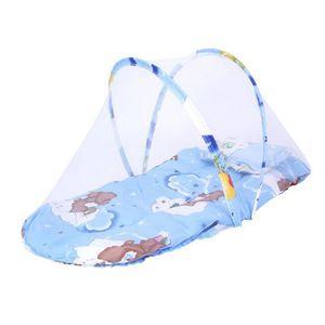 LIT PLIANT  Lit Tente Bébé Moustiquaire Pliable Portable Bleu