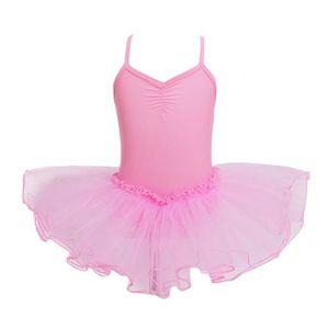 YiZYiF Enfant Fille Justaucorps Danse Dentelle L/éotard Ballet Gymnastique Body V/êtement Sport Combinaison Collant Bodysuit Patinage Costume Performance 5-14 Ans