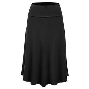 JUPE Femmes Taille Plus solide Flare Hem Jupe taille ha