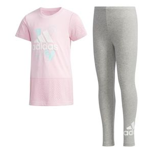 50e9b11e59657 TENUE DE RUNNING Ensemble fille adidas Tee-and-Tights