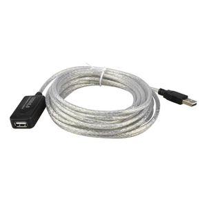 CÂBLE INFORMATIQUE 5m Cable de rallonge USB 2.0 pour repeteur M-F