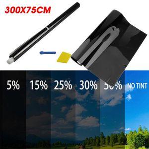 300cm x 50cm Limo Noir Film solaire teinté vitres voiture teinte feuille 5/% Kit de montage
