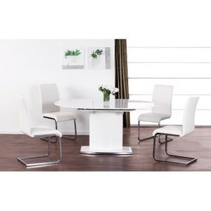 Table Extensible Ornela 6 Couverts Mdf Chrom Achat Vente