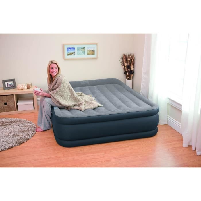 LIT GONFLABLE - AIRBED INTEX Matelas gonflable DELUXE REST BED 152x203 cm