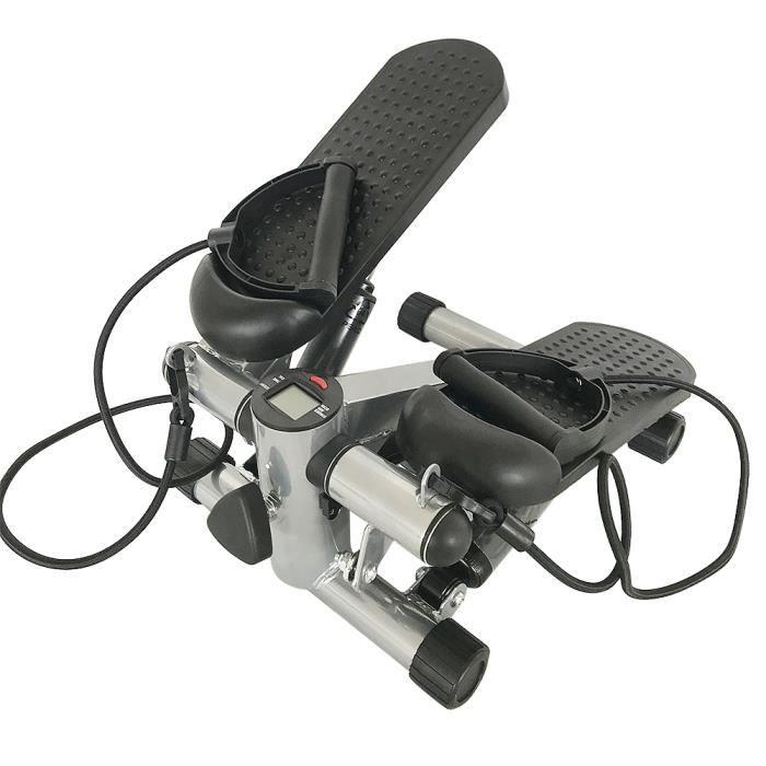 BUL Haute Qualité Stepper pour l'ecercise de jambes Domicile Fitness ,Noir - Mini stepper avec cordes de tirage