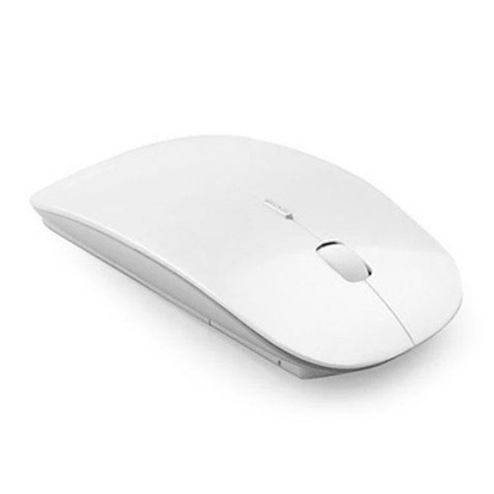 Slim 2,4 Ghz optique souris sans fil + récepteur pour Pc portable Mac Blanc @amy37