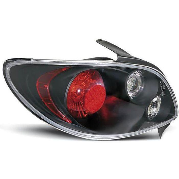 Paire de feux arriere Peugeot 206 berline 98-06 noir (E06)