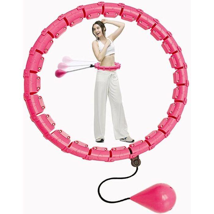 Cerceau Hula Hoop lesté pour adultes, Hula Hoops intelligents pour l'exercice, 1 kg réglable Hula Hoop pour la perte de poids
