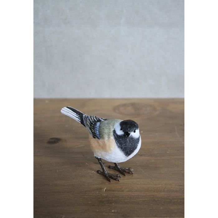 Oiseau décoratif mésange à tête noire