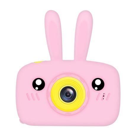 Appareil photo enfant,Bébé jouets 0 12 mois dessin animé appareil photo numérique enfants créatif jouet éducatif - Type Pink bunny