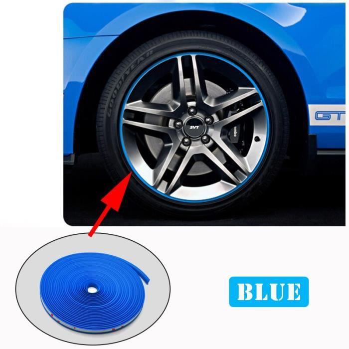 Accessoires auto intérieurs,Bande de roues de voiture de 8m,autocollant chromé,décoration de jante,jantes de pneu - Type BLUE