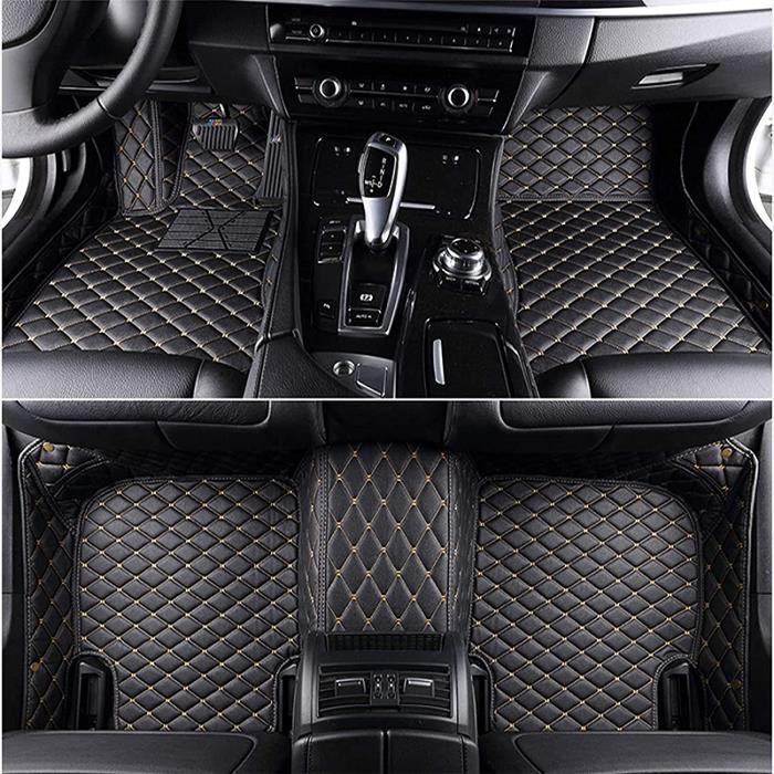 Cuir Tapis de Voiture pour BMW 3 Series E90 2008-2012, Auto Interieur Accessoires Couverture Complète Protection Tapis de Sol, A409