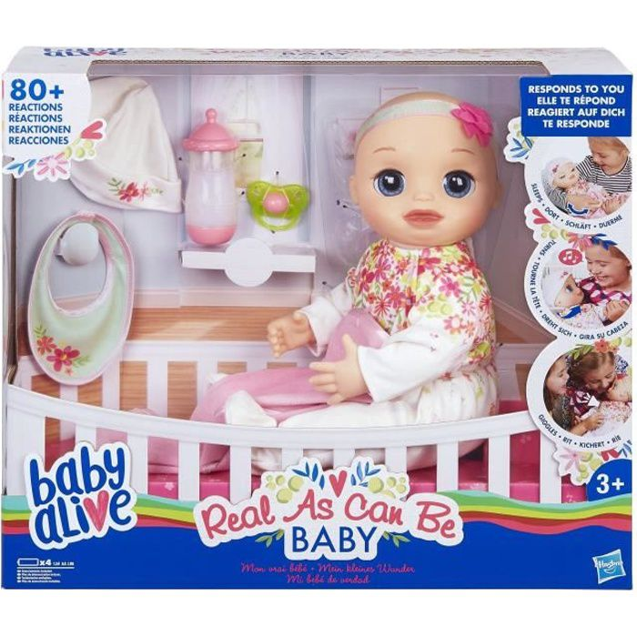 Baby Alive - Mon Vrai Bebe - Poupon - Babille en français