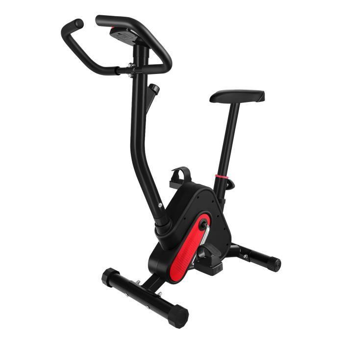 BESPORTBLE Vélo d'Appartement - Entraînement Musculaire Personnalisé - Noir, Rouge