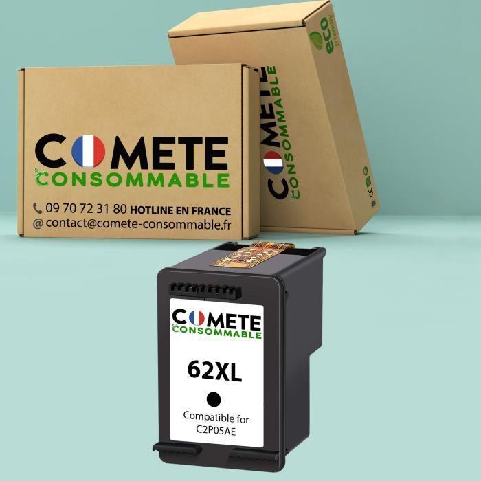 62xl - 1 Cartouche d'encre Compatible avec HP 62 XL Noir (C2P05AE) pour imprimante HP envy / Officejet