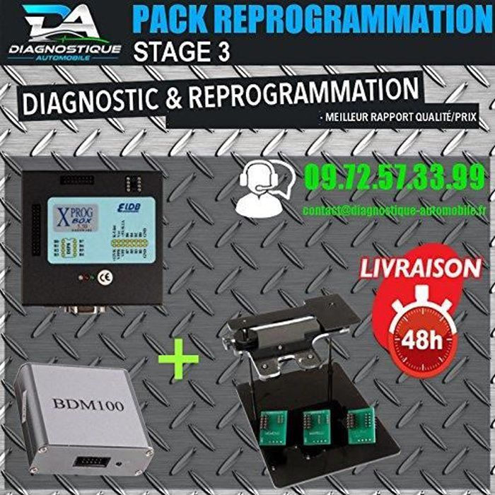 Mister Diagnostic® PACK REPROGRAMMATION MOTEUR - SUPPRESSION FAP VANNE EGR DESACTIVATION IMMO OBD
