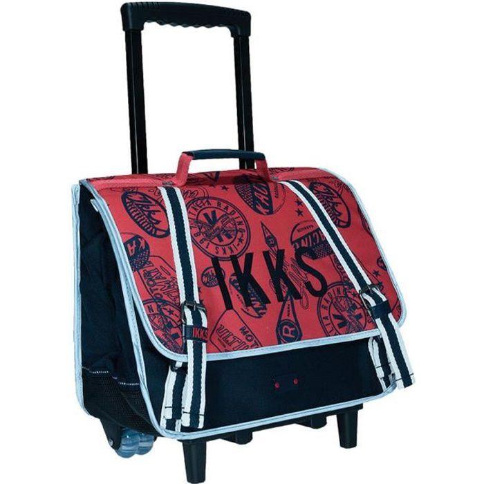 Cartable à roulettes IKKS Urban R Rouge 38 CM