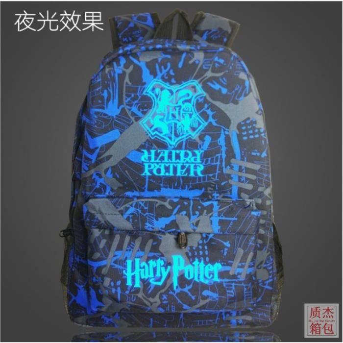 Harry Potter-Sac à dos Noctilucent Fluorescence-cadeau Noël anniversaire pour fils et fille,sac d'école-cartable FK02