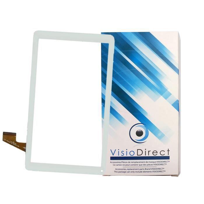 Vitre écran tactile blanche pour tablette THOMSON TEO10R taille 10.1-