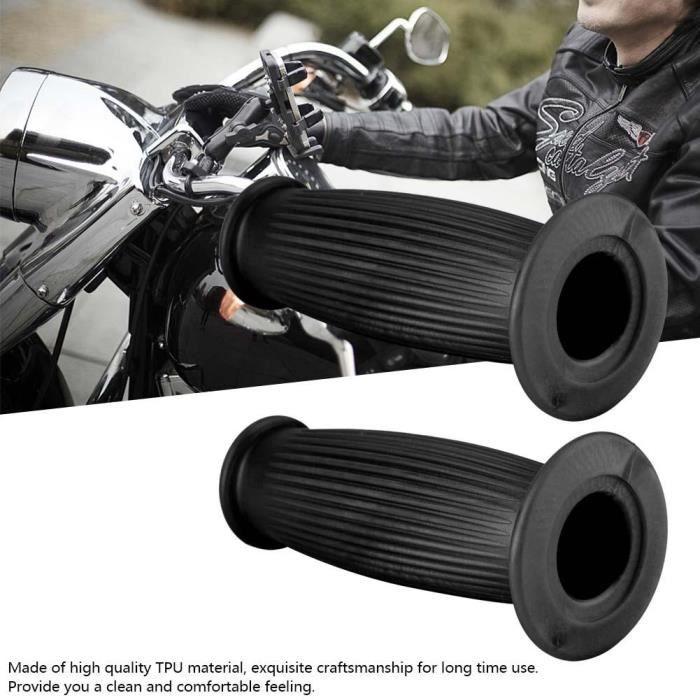 Replay Poign/ées de guidon universelles pour moto//scooter 22//24-25 mm Noir