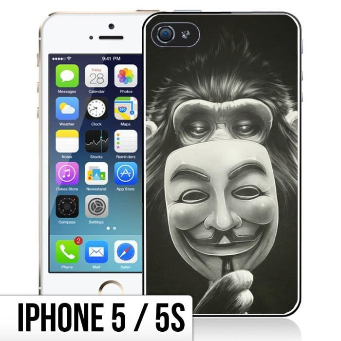 coque iphone 5 5s singe anonymous