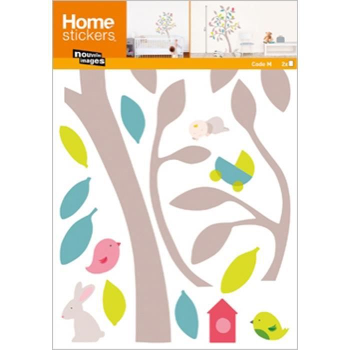 stickers muraux bebe arbre printemps achat vente stickers cdiscount. Black Bedroom Furniture Sets. Home Design Ideas