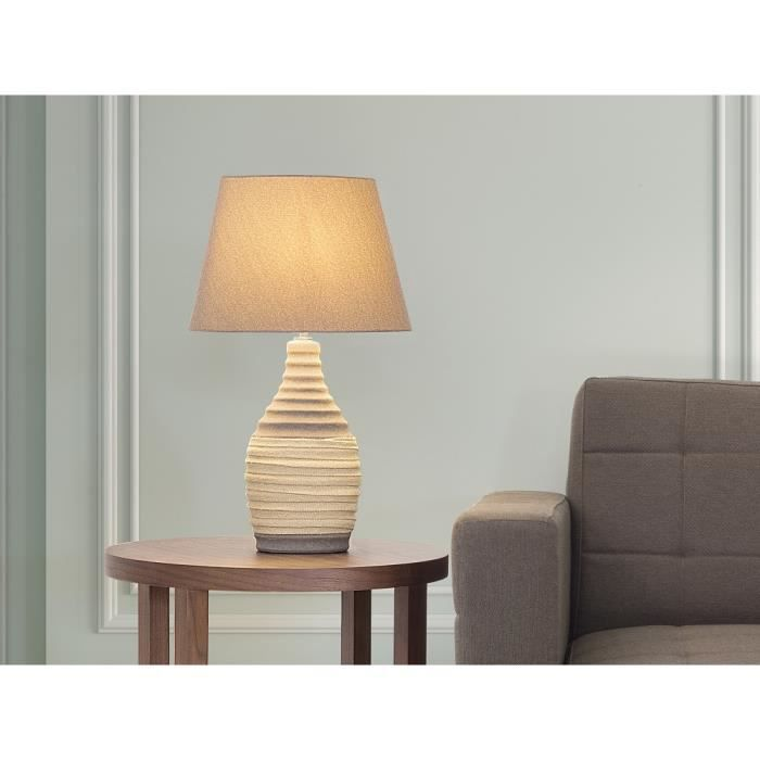 lampe poser lampe de salon de chevet de bureau marron tormes achat vente lampe. Black Bedroom Furniture Sets. Home Design Ideas
