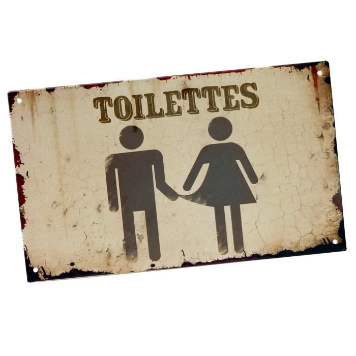 Plaque de porte originale fixer toilettes en m tal - Plaque de porte wc design ...