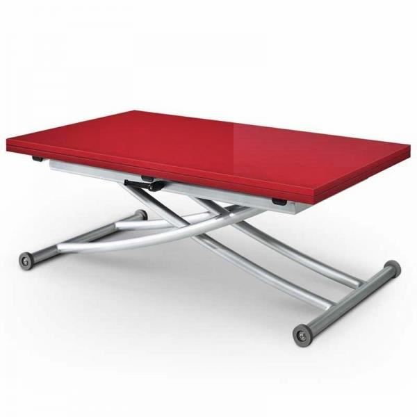 Table basse relevable ilona laquee rouge achat vente - Table basse relevable cdiscount ...