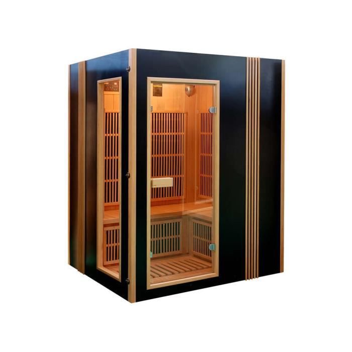 Sauna infrarouge finland chromoth rapie 4 places achat vente - Cabine hammam 4 places ...