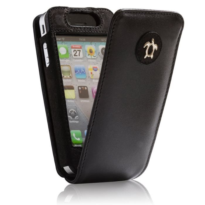 Housse cuir iphone 4 iphone 4s noir vintage a achat for Housse cuir iphone 4