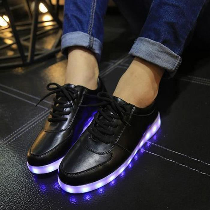 chaussures LED Sneaker Femme Wecheers® Shoes Couleurs 7 lumineuses sport FzwfxnHqg