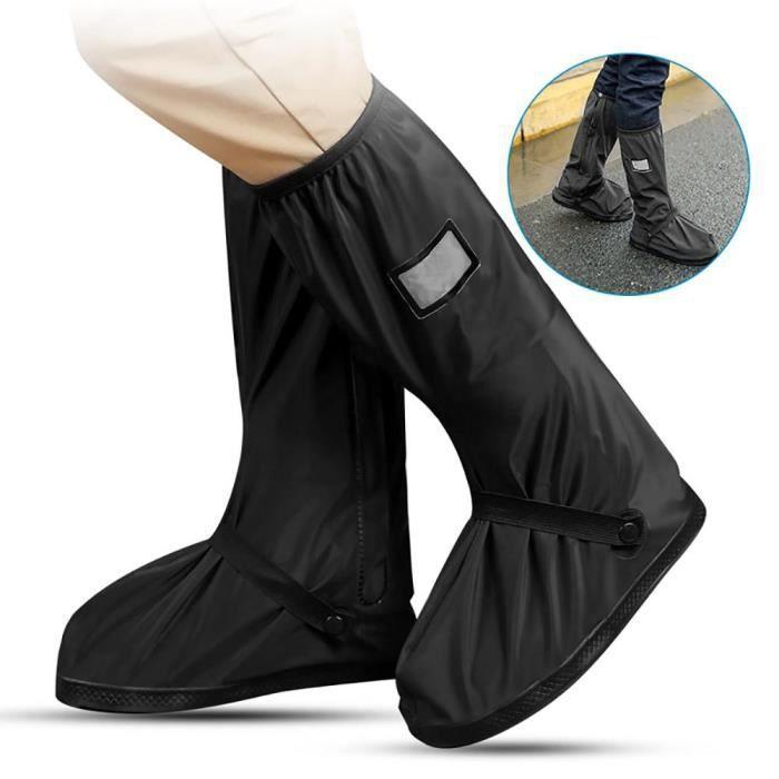 Couvre-chaussures imperméable réutilisable moto cyclisme vélo botte de pluie YQK