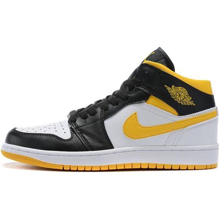 Air Jordan 1 Retro Chaussures de Basket pour Femme Homme Noir ...
