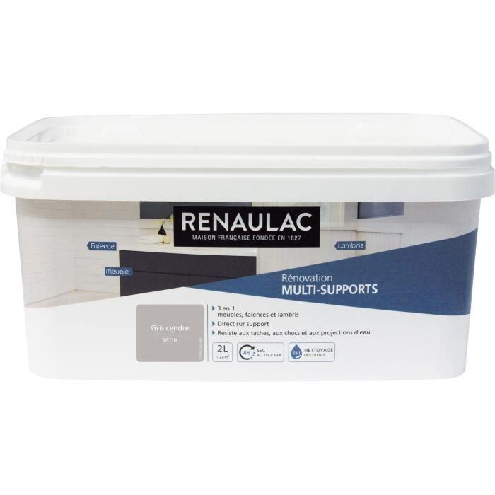 Renaulac Peinture Rénovation Multisupports 3 En 1 Gris Cendre Satin 2l 24m Pôt