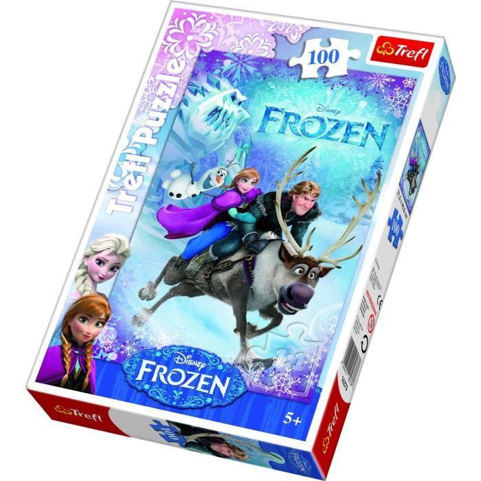 Les Frozen Reine Puzzle horloge 96 pièces Anna Elsa Olaf NEUF NEW CLOCK