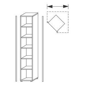 Welle etag re d 39 angle 39 tool 39 5 planches imita achat - Meuble etagere d angle ...