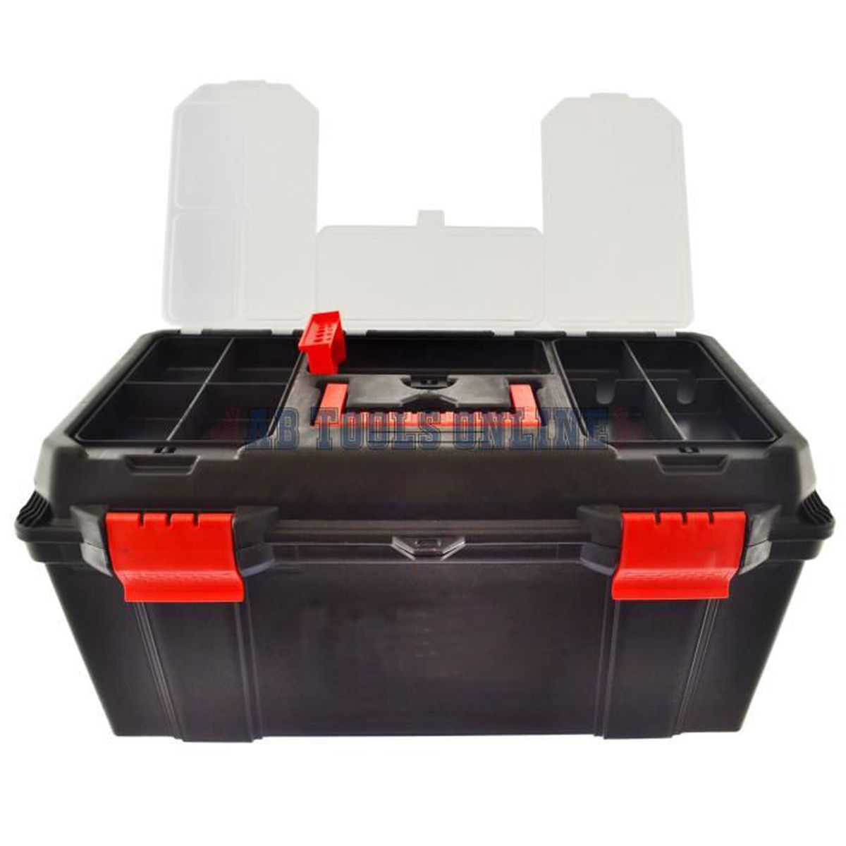 """13/"""" petite en plastique Boîte à outils avec amovible plateau et poignée de transport"""