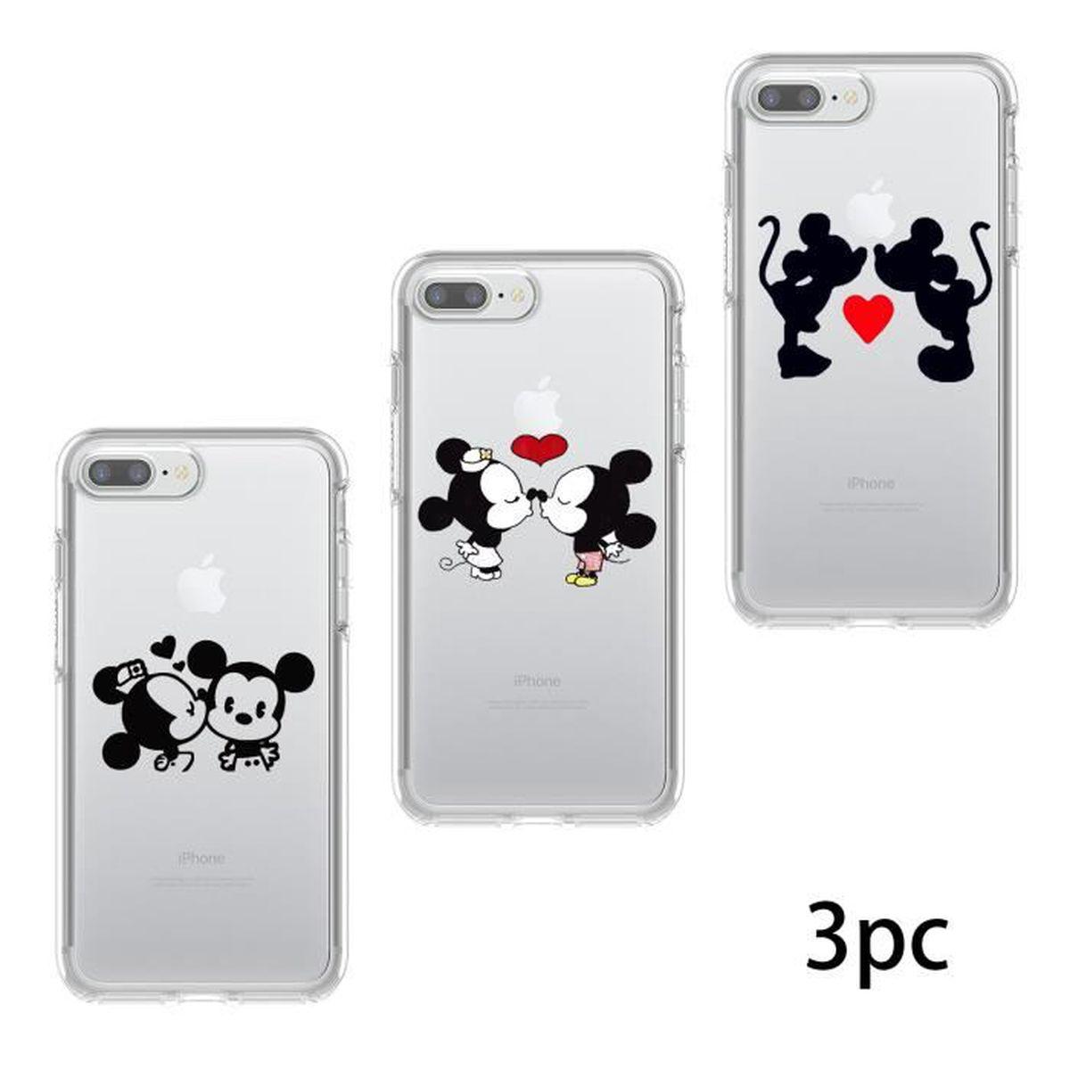 coque pour apple iphone 8 plus 7 plus 3pc animau