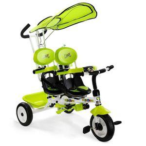 TRICYCLE Tricycle pour Jumeaux 4 en 1 Tricycle à Vélo Enfan