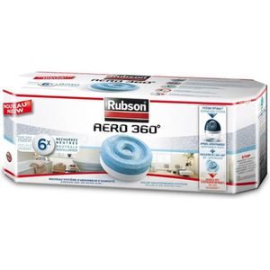 ABSORBEUR D'HUMIDITÉ Recharge absorbeur humidité Aero 360° x6 - RUBSON