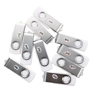 CLÉ USB 10Pcs 2GB Blanc USB 2.0 Pivotant lecteur flash Mem