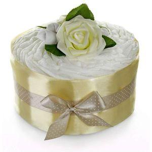 COUCHE Pampers gâteau de couches Rose Fleur Or–Cadeau d