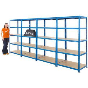 Rayonnage de garage en acier tr/ès r/ésistant 175 kg par /étag/ère 5 niveaux 1800 mm H x 900 mm l x 450 mm P